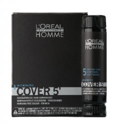 L'Oreal Professionnel Homme / Мужская Линия - Тонирующий гель 5 № 6 темный блондин, 3*50 мл