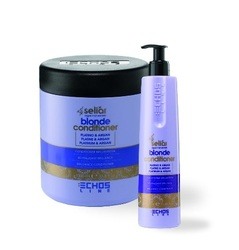 Echos Line  Seliar Blonde Conditioner - Кондиционер с частицами платины и аргановым маслом, 350 мл