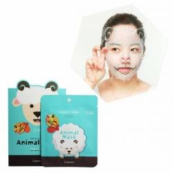 Berrisom Animal Mask Sheep - Маска для лица, Овечка(с витаминос C и арбутином)