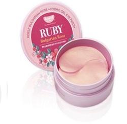 Koelf Hydro Gel Ruby & Bulgarian Rose Eye Patch - Гидрогелевые патчи для для области вокруг глаз с экстрактом болгарской розы и минеральной рубиновой пудрой, 60 шт. (на 30 применений)