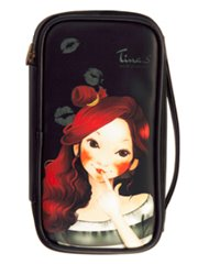 Fascy Pungseon Tina PU Beauty Pouch (black) - Косметичка
