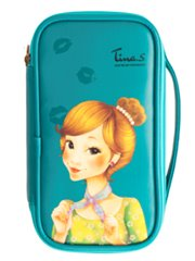 Fascy Pungseon Tina PU Beauty Pouch (blue) - Косметичка