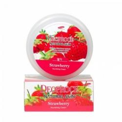 Deoproce Natural Skin Strawberry Nourishing Cream - Крем для лица и тела на основе экстракта клубники, 100 г