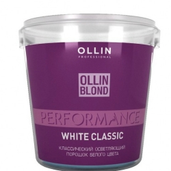 Ollin Blond Performance White Classic - Классический осветляющий порошок белого цвета, 500 г