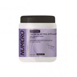 Brelil numero smoothing mask - Разглаживающая маска для волос с маслом авокадо 1000 мл