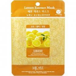 Mijin Lemon Essence Mask - Маска тканевая с лимоном, 23 г