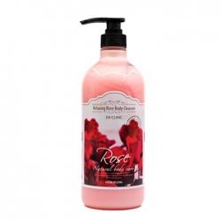 3W Clinic Rose Relaxing Body Cleanser - Гель д/душа релакс РОЗА, 1000 мл