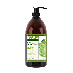 Evas Naturia Pure Body Wash Wild Mint & Lime - Гель для душа с освежающим ароматом мяты, эвкалипта и лайма, 750 мл