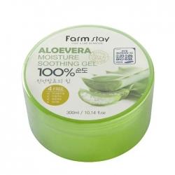 FarmStay Moisture Soothing Gel Aloevera 100% - Гель с алоэ, 300мл