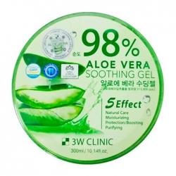 3W Clinic Aloe Vera Soothing Gel - Универсальный гель со 98% содержанием экстракта алоэ вера, 300 мл
