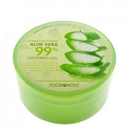 FoodaHolic Calming & Moisturizing Aloe Vera Soothing Gel - Многофункциональный гель с 99% содержанием алое вера, 300 мл