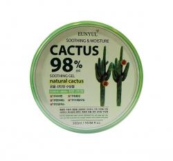 EUNYUL CACTUS MOISTURE SOOTHING GEL - Успокаивающий увлажняющий гель с кактусом, 300 мл
