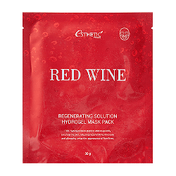 Esthetic House Red Wine Regenerating Solution Hydrogel Mask Pack - Гидрогелевая маска с экстрактом красного вина, 28 мл