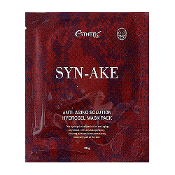 Esthetic House Syn-Ake Anti-Aging Solution Hydrogel Mask Pack - Гидрогелевая маска со змеиным пептидом, 28 мл