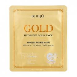 Petitfee Gold Hydrogel Mask Pack - Гидрогелевая маска для лица с микрочастицами коллоидного золота, 30 мл