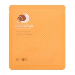 Petitfee Gold & Snail Hydrogel Mask Pack - Гидрогелевая маска для лица с золотом и экстрактом слизи улитки, 30мл