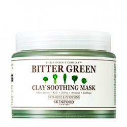 Skinfood Bitter Green Clay Soothing Mask - Глиняная маска для лица с растительными экстрактами, 145 мл
