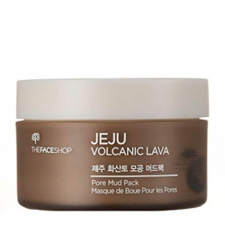 The Face Shop Jeju Volcanic Lava Pore Mud Pack - Маска для лица с вулканической лавой, 100 мл