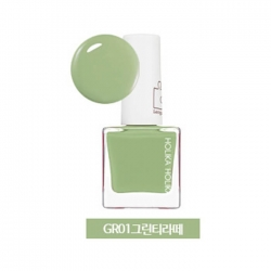 Holika Holika Piece Matching Nails - Lacquer - Лак для ногтей тон GR01, зеленый чай Латте, 10 мл