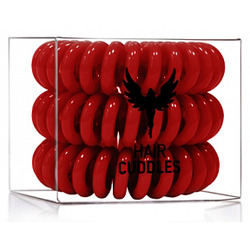 Hair Bobbles HH Simonsen - Резинка для волос, темно-красная, 3 штуки