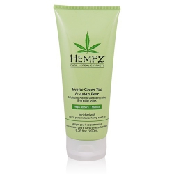 Hempz Exotic Green Tea&Asian Pear Exfoliating Herbal Cleansing Mud and Body Mask - Маска-глина растительная, отшелушивающая, 200 мл