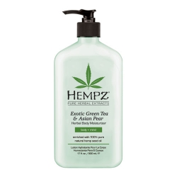 Hempz Exotic Green Tea&Asian Pear Herbal Moisturizer - Молочко для тела увлажняющее, Зеленый чай и Груша, 500 мл