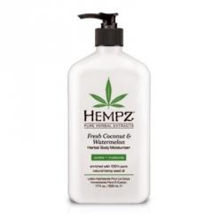 Hempz Fresh Coconut&Watermelon Herbal Moisturizer - Молочко для тела увлажняющее, Кокос и Арбуз, 500 мл