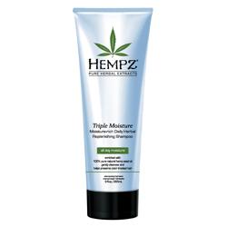Hempz Hair Care Triple Moisture Replenishing Shampoo - Шампунь для волос, Тройное увлажнение, 265 мл