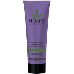 Hempz Hair Care Vanilla Plum Herbal Moisturizing Strengthening Conditioner - Кондиционер для волос укрепляющий, Ваниль и Слива, 265 мл