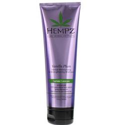Hempz Hair Care Vanilla Plum Herbal Moisturizing Strengthening Shampoo - Шампунь увлажняющий для ослабленных волос, Ваниль и Слива, 265 мл