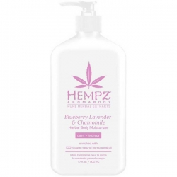 Hempz HERBAL Body Moisturizer Blueberry Lavender & Chamomile - Молочко для тела увлажняющее Лаванда, Ромашка и Дикие Ягоды 500мл