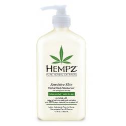 Hempz Sensitive Skin Herbal Moisturizer - Молочко для тела увлажняющее, Чувствительная Кожа, 500 мл