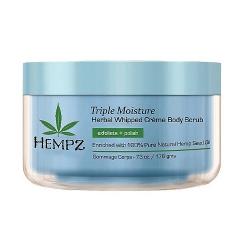 Hempz Triple Moisture Herbal Whipped Creme Body Scrub - Скраб для тела, Тройное увлажнение, 176 гр