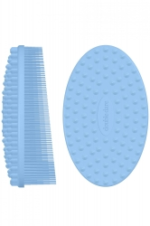 Double Dare OMG! I.M. BUDDY Pastel Blue - Массажная силиконовая щетка, голубая