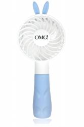 Double Dare OMG! Platinum Mini Beauty Fan Blue - Ручной вентилятор, голубой