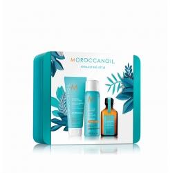 Moroccanoil - Праздничный набор Style (лак+масло+крем)