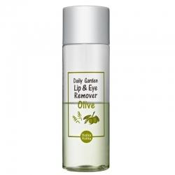 Holika Holika Daily Garden Olive Lip&Eye Remover - Средство для снятия водостойкого макияжа, олива, 100 мл