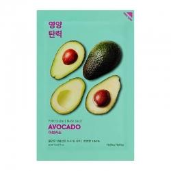 Holika Holika Pure Essence Mask Sheet Avocado - Смягчающая тканевая маска, авокадо, 20 мл