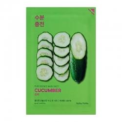 Holika Holika Pure Essence Mask Sheet Cucumber - Успокаивающая тканевая маска, огурец, 20 мл