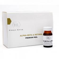 Holy Land PROF Alpha-Beta & Retinol Premium Peel - Премиум пилинг химический выравнивающий 6 х 7мл