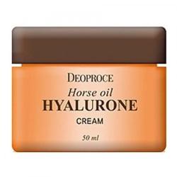 Deoproce Horse Oil Hyalurone Cream - Крем с лошадиным жиром и гиалуроновой кислотой, 50 мл