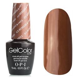 Opi GelColor Ice-Berger & Fries, - Гель-лак для ногтей, 15мл