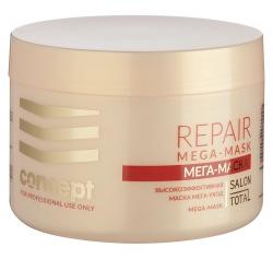 Concept Salon Total Repair MEGA-MASK - Маска для слабых и поврежденных волос Мега-уход 500 мл