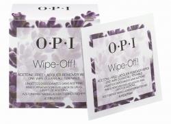 OPI Wipe-Off! Acetone-Free  Lacquer Remover Wipes - Салфетки без ацетона для снятия лака, 10 шт