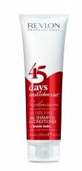 Revlon Professional Shampoo&Conditioner Brave Reds - Шампунь-кондиционер для красных оттенков, 275 мл