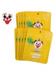 Berrisom Horror mask series-Pierrot - Маска тканевая с экстрактом зеленого чая, 25 мл