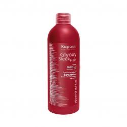 Kapous Professional Glyoxy Sleek Hair - Разглаживающий бальзам для волос с глиоксиловой кислотой, 500мл