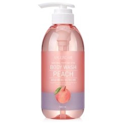 Welcos  Around me Natural Perfume Vita Body Wash Peach - Гель для душа  с ароматом персика, 500 мл