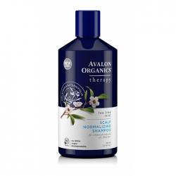 Avalon Organics Tea Tree Mint Treatment Shampo - Лечебный шампунь Чайное дерево Мята, 400 мл