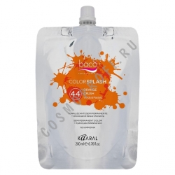 Kaaral Colorsplash Vivids-Pastels 44 Orange Crush - Краситель для волос оранжевый 200 мл